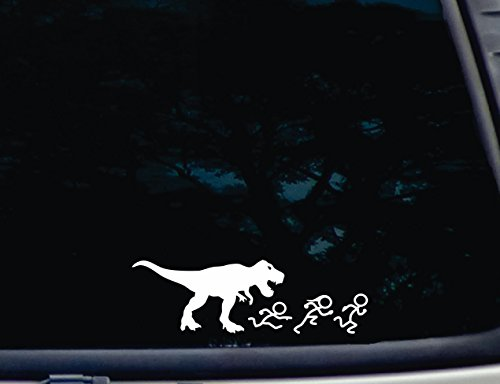 T-Rex chasing Stick Figure Family - 8