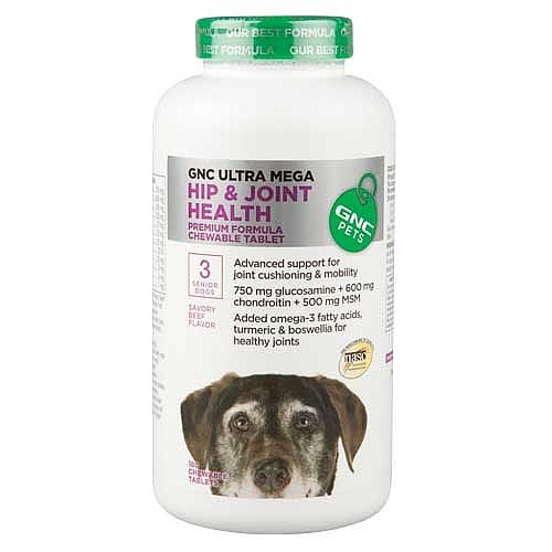 Gnc Ultra Mega Hip & Joint Health For Senior Dogs 180 Tabs (Dreamy Peanut Butter)