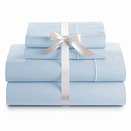 Italian 400 Thread Count Solid 4Pc King Sheet Set (Blue) By Bed&Linen front-917248