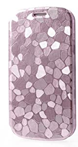 Stone Grain Leather Stand Samsung Galaxy S3 I9300 Pink Clutch Purse Wallet Handbag Case Cover