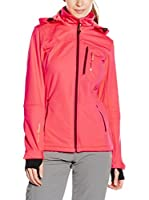 Peak Mountain Chaqueta Soft Shell Anne (Coral / Burdeos)