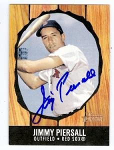 Jimmy Piersall Autographed Baseball Card Boston Red Sox 2003