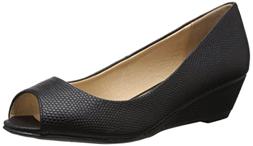 CL by Chinese Laundry Women's Hartley Lizard Wedge Pump, Black, 8 M US