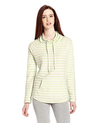 Calvin Klein Women's Boucle Stripe Funnel Neck Sweatshirt