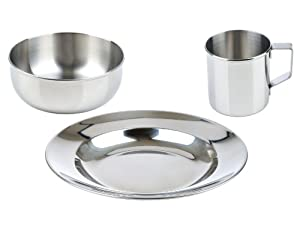 LunchBots Children's Stainless Steel Dish Set
