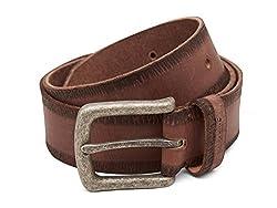 Breakbounce Men's Leather Belt (8907066079600_Medium_Brown)