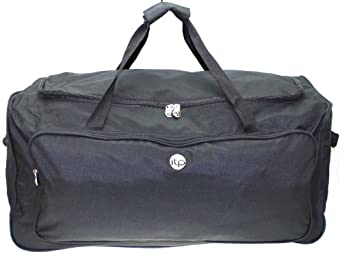 """29"""" Large Travel Luggage Wheeled Trolley Holdall Suitcase Case Duffle Bag BLACK"""