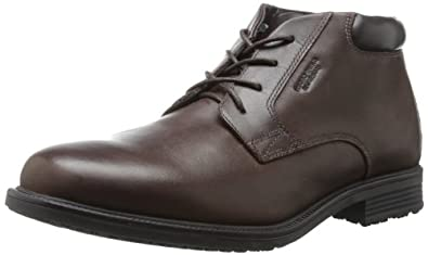 Rockport Men's Essential Details Water Proof Chukka Boot,Dark Brown,6.5 W US