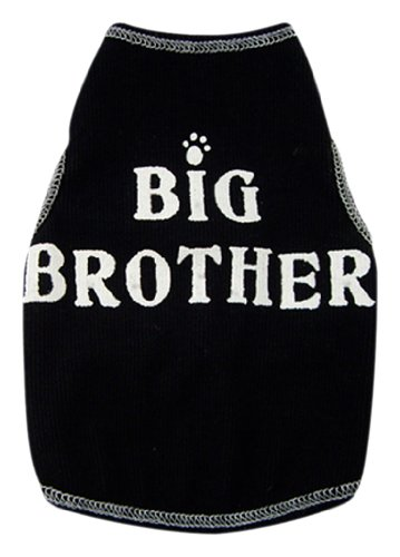 I See Spot's Dog Pet Cotton T-Shirt Tank, Big Brother, Medium, Black