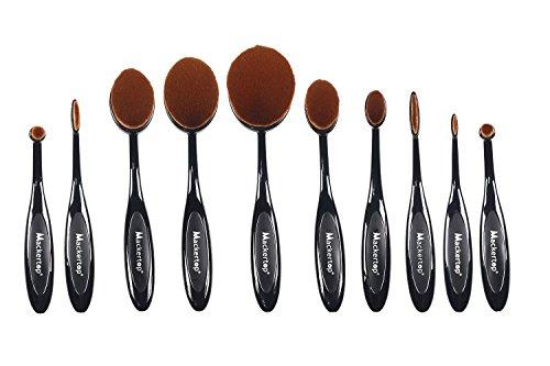 mackertopr-updated-version-professional-10-pcs-soft-oval-toothbrush-makeup-brush-sets-foundation-bru