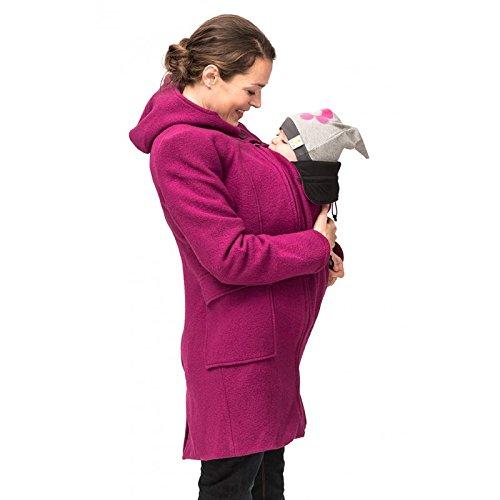 Mamalila Kapuzenmantel für zwei Umstandsmantel Mantel beere XS günstig bestellen