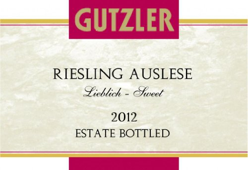 2012 Gutzler Riesling Auslese - Sweet 750 Ml