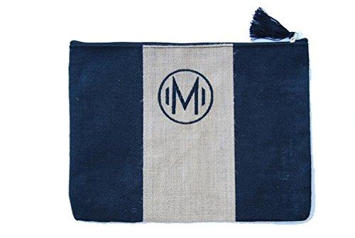 Mud Pie Chelsea Initial Monogrammed Jute Carry-all Case (Initial M) (M Mud Pie Bag compare prices)