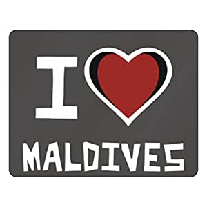 Amazon.com: Teeburon I love Maldives Horizontal Sign: Home & Kitchen
