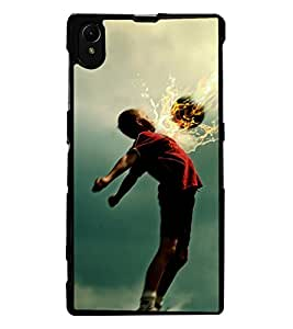 ColourCraft Football Lover Design Back Case Cover for SONY XPERIA Z1