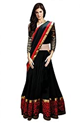 Georgette Party Wear Lehenga Choli in Black Colour