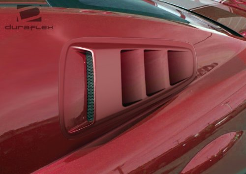 Best Prices! 2010-2014 Ford Mustang Duraflex Hot Wheels Window Scoop Louvers - 2 Piece