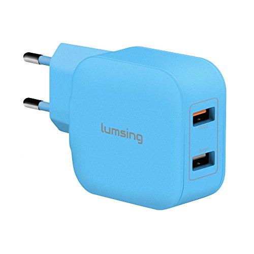 Lumsing-Cargador-USB-porttil-de-pared-2-Puertos-USB-Wall-charger-Enchufe-europeo-para-iPhone-6s-plus-6-plus-6s-6-5s-5-iPad-iPod-Samsung-Galaxy-HTC-Nokia-Nexus-Motorola-Blackberry-Nook-Otros-dispositiv