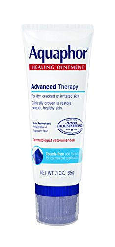 Aquaphor Healing Ointment, Dry, Cracked and Irritated Skin Protectant, Touch-Free Applicator, 3 Ounce (Pack of 3)