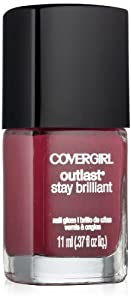 Covergirl Outlast Stay Brilliant Nail Gloss, Crushed Berries 270, 0.37 Ounce