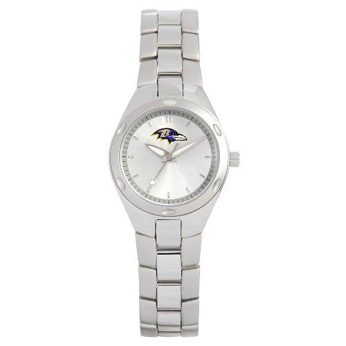 """NFL Women's RV0099 NFL Baltimore Ravens """"Touchdown"""" Stainless Steel Watch"""