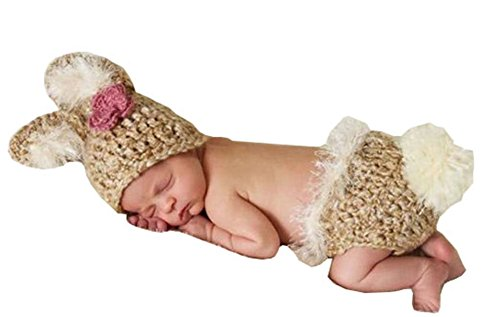 Cx-queen® Baby Photography Prop Costume Crochet Knitted Rabbit Bunny Outfit