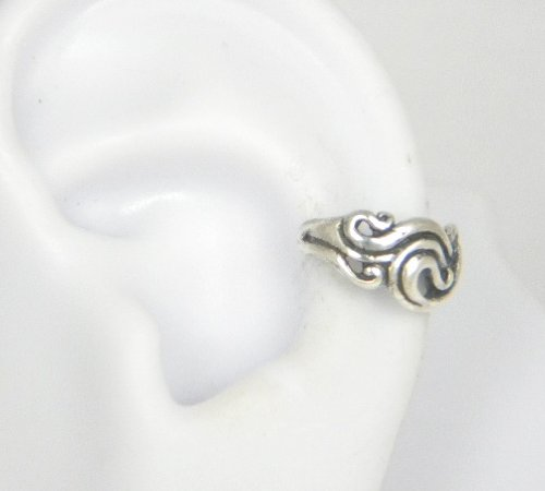 Sterling Silver Art Nouveau style Swirl Ear Cuff Earring A Marty Magic Creation