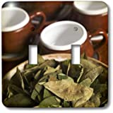 3dRose  lsp_86965_2 Peru Cuzco Coca Leaves and Tea Cups Sa17 Bja0152 Jaynes Gallery Double Toggle Switch