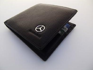 Mercedes genuine black leather money credit card holder for Mercedes benz wallet