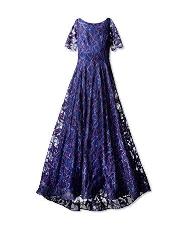 Nha Khanh Women's Annie Mid Sleeve Boatneck Gown