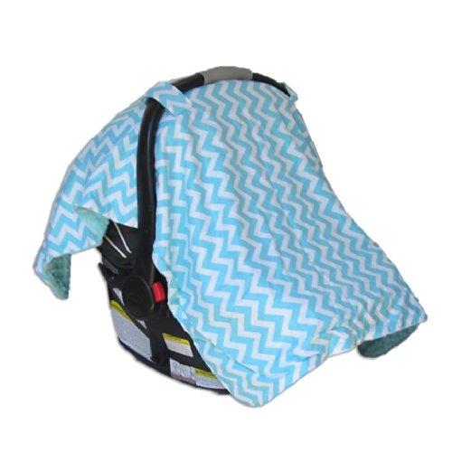 Car Seat & Stroller Canopy/Cover Zig Zag (Aqua) front-10980
