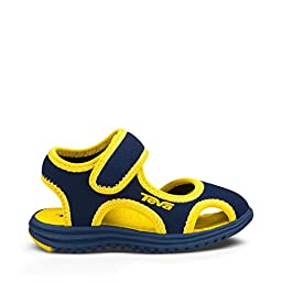 Teva Tidepool CT Water Sandal (Toddler/Little Kid), Navy/Yellow, 10 M US Toddler
