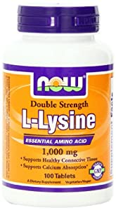 NOW Foods L-Lysine 1000mg, 100 Tablets
