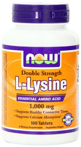 Now Foods NOW Foods L-Lysine 1000mg, 100 Tablets