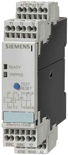Siemens 3Rn1062-1Cw 00 Thermistor Motor Protection Relay, Screw Terminal, Evaluation Units For 6 Sensor Circuits, Multi-Motor Protection, 8 Leds, 45Mm Width Manual/Auto/Remote Reset, 1 No + 1 Nc Contacts, 24-240Vac/Vdc Control Supply Voltage