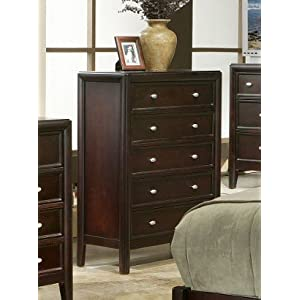 bedroom storage chest on Bedroom Storage Chest With Framed Drawers In Dark Merlot Finish