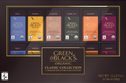 Green & Black's Organic Classic Collection Gift Box, 6.34-ounces (Pack of 4)