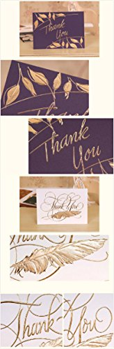 PAPTEL Fantastic Thank You Cards for All Occasions - Thank You Greeting Card Assortment - 8 Different Designs - Including Envelopes - Set of 8