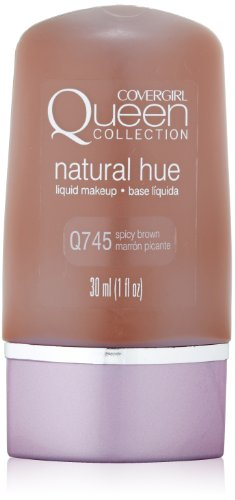 CoverGirl Queen Collection Liquid Makeup Foundation, Spicy Brown 745, 1.0-Ounce Bottles (Pack of 2)