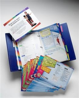 RICHARD SIMMONS SLIMAWAY EVERYDAY FOODMOVER JOURNAL BINDER **BRAND NEW** BONUS: 12 FREE RECIPE CARDS WITH PURCHASE!!