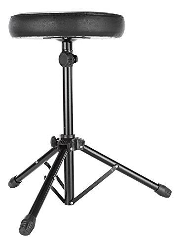 Neewer® Universale tamburo e tastiera, Sgabello seduta imbottita con base treppiede in metallo regolabile e piedini in gomma antiscivolo, Perfetto per Percussioni, tamburo, tastiera, chitarra giocatori e più