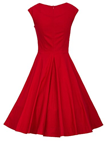 Cai Die Nu Womens Retro Sleeveless Party Swing Dress