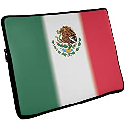 Mexican Flag Laptop Sleeve 17 inch