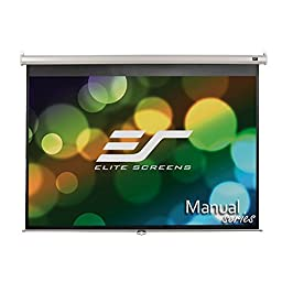 Elite Screens Manual, 84-inch 4:3, Pull Down Projection Manual Projector Screen with Auto Lock, M84NWV