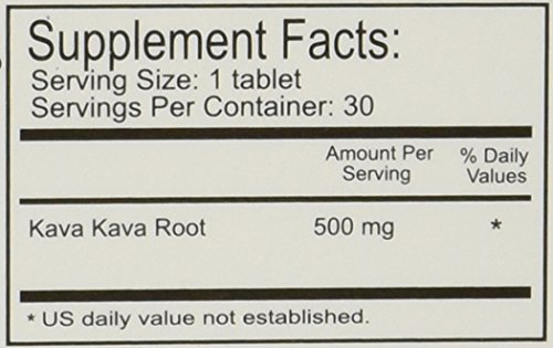 Kava Kava Muscle Relaxant and Sleep Aid 500 mg (Pack of 6)