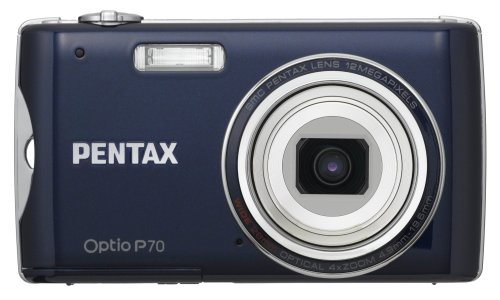 Pentax Optio P70 12 MP Digital Camera with 4x Wide-Angle Optical Zoom (Blue)