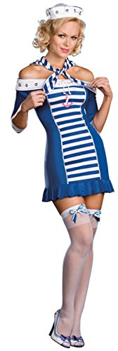 Dreamgirl Womens Ship-Shape Sweetie Sailor Nautical Outfit Sexy Costume