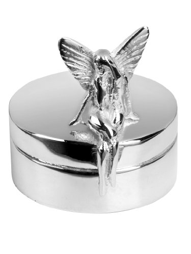 Dainty Silver Fairy Keepsake Box - Fine Quality Silver-Plate. Ideal Gift To Celebrate A Birth, Christening Or Special Birthday. Forwarded In Hinged Presentation Case front-599965