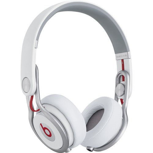 Beats by Dr. Dre Mixr Series Swivel Earcup Closed Back Lightweight DJ Headphones (White)