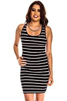 Lolli Couture V-NECK SLEEVELESS SPANDEX FITTED DRESS